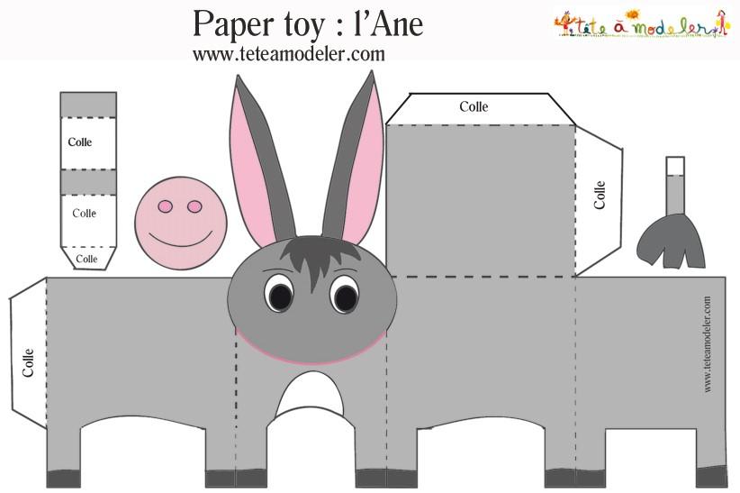 Зверюшки из бумаги шаблоны